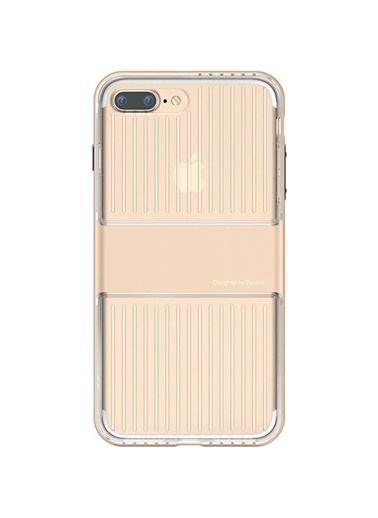 Baseus Iphone 7 / 8 / Se Travel Series Case Şeffaf Kılıf - Gold Renkli